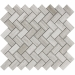 Wooden White Herringbone