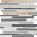 Fossil Rock Glass Stone Stainless Linear